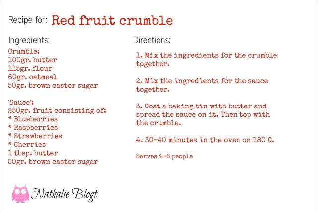 Reb Fruit Crumble