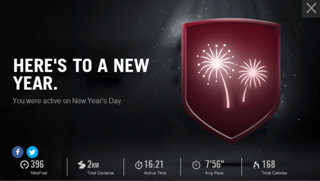 New Years Nike+ Badge