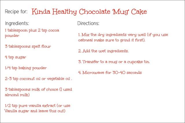 Healthy Mug Cake Cake Mix